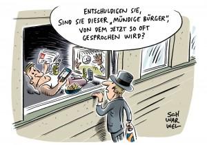 karikatur schwarwel diktatur demokratie meinungsfreiheit politik politiker