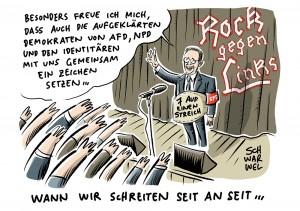 Rock gegen Links: Heiko Maas tappt in die Bild-Falle