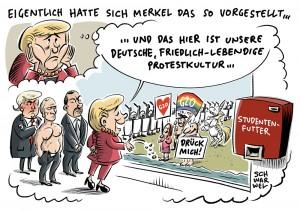 """Merkel verurteilt Gewalt bei G20-Protesten: """"Das ist nicht zu akzeptieren"""""""