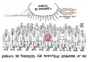 """Nach G20-Ausschreitungen: De Maizière fordert """"notfalls Fußfesseln"""""""