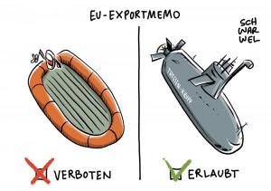 Waffenexporte: Bundesregierung genehmigt Waffenlieferungen nach Saudi-Arabien; Flüchtlinge im Mittelmeer: EU-Staaten verbieten Schlauchboot-Exporte nach Libyen