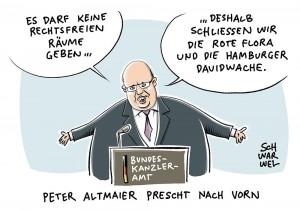 Nach G-20-Krawallen: Altmaier vergleicht Rote Flora mit Hassprediger-Moschee
