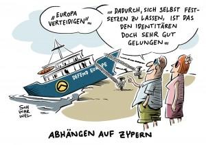 """Defend Europe': Identitären-Schiff in Zypern festgesetzt"""""""