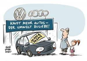 Abwrackprämie für alte Diesel: VW und Audi bieten bis zu 10.000 Euro