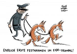 """Fipronil-Belastung: Festnahmen im Eier-Skandal"""""""