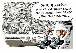 De Maizière präsentiert Überwachungsprojekt: Ich sehe was, was du nicht siehst