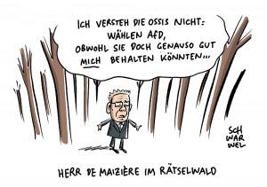 Wahldresdner Innenminister DeMaizière: Unverständnis für die ostdeutsche Mentalität