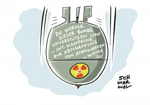 Friedensnobelpreis verliehen: Kampagne zum Kampf gegen Atomwaffen (ICAN) geehrt