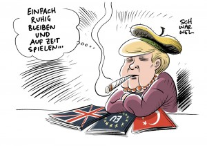 Bundeskanzlerin Merkel: Jamaika-Sondierungen, während EU mit Brexit und Türkei hadert