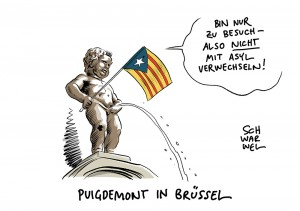 FLucht aus Katalonien Brüssel Puidgemont