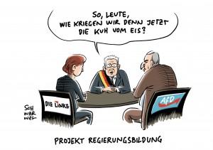Projekt Regierungsbildung: Steinmeier redet auch mit Linke und AfD