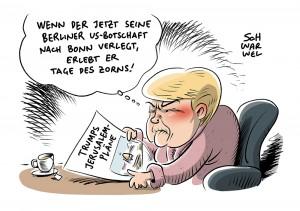Reaktionen auf Trumps US-Nahostplan: Wütende Warnungen und besorgte Appelle
