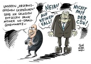 GroKo-Sondierungen: Seehofer hat bei Gesprächen das letzte Wort für CSU
