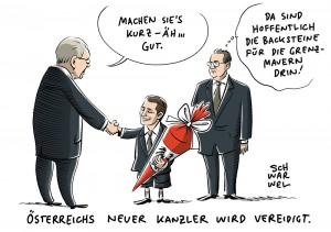 Neues Kabinett vereidigt: Sebastian Kurz Kanzler in Österreich
