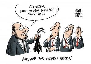 Votum über GroKo-Papier: SPD-Spitze stimmt sechs Nein-Stimmen zu