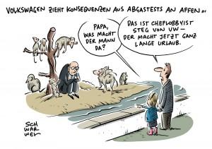 Abgastests an Affen: VW beurlaubt Cheflobbyisten Thomas Steg