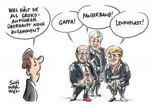 GroKo-Vertrag steht: Parteiführer von SPD, CDU und CSU schwer angeschlagen