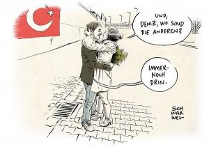 Pressefreiheit in der Türkei: Deniz Yücel ist frei, 150 andere noch in Haft