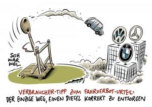 Urteil des Bundesverwaltungsgerichts: Städte dürfen Diesel-Fahrverbote verhängen