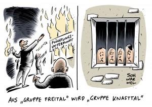 """Prozess in Dresden wegen Bildung einer terroristischen Vereinigung: Lange Haftstrafen gegen rechte """"Gruppe Freital"""""""