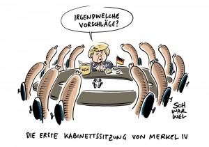Neue Bundesregierung: Kabinett Merkel IV ist im Kasten