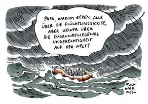 Schwarzbuch Migration über eigentliche Fluchtursachen: Wirtschaftliche und soziale Ungerechtigkeiten auf der Welt
