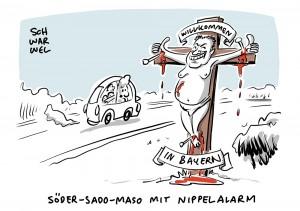 Überall muss Kruzifix hängen: Bayern zwingt Behörden das Kreuz auf