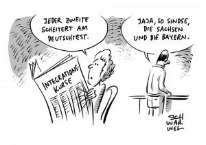 Integrationskurse: Jeder Zweite scheitert am Deutschtest