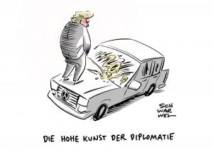 US-Präsident im Handelsstreit: Trump droht EU mit Strafzöllen auf Autos von 20 Prozent