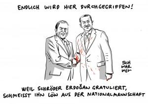 Altkanzler in Ankara: Gerhard Schröder vertritt Regierung bei Erdogans Amtseid