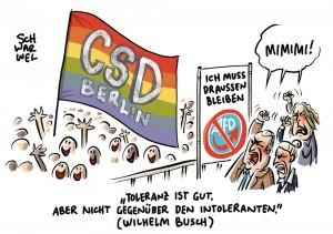 Mimimi der Intoleranten: AfD darf trotz Beschwerde nicht am Christopher Street Day teilnehmen