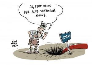 Forsa-Umfragetief für CSU: Merkel in Bayern beliebter als Seehofer und Söder