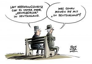 """Verfassungschutzbericht 2017: Immer mehr """"Reichsbürger"""""""""""