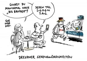 """Sächsischer Ministerpräsident nennt Journalisten """"unseriös"""": Dresdner Polizei hält TV-Journalisten bei PEGIDA-Demo fest"""