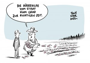Landwirtschaft ohne Nachhaltigkeit: Bauern bekommen Dürre-Hilfen vom Staat
