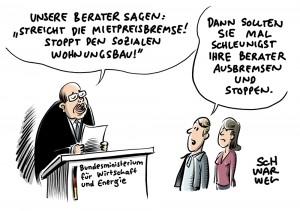 Berater des CDU-geführten Wirtschaftsministeriums: Gutachten fordert Stopp des Sozialen Wohnungsbaus und ersatzlose Streichung der Mietpreisbremse