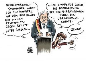 Wegen Unterstützung für Konzert in Chemnitz: CDU-Spitzenfrau Kramp-Karrenbauer kritisiert Steinmeier, Bundesinnenminister Steinmeier lehnt Beobachtung der AfD durch Verfassungsschutz ab