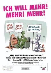 """Schwarwel Workshop """"Ich will mehr"""", frei, weltoffen und demokratisch, Weltoffenes Sachsen"""