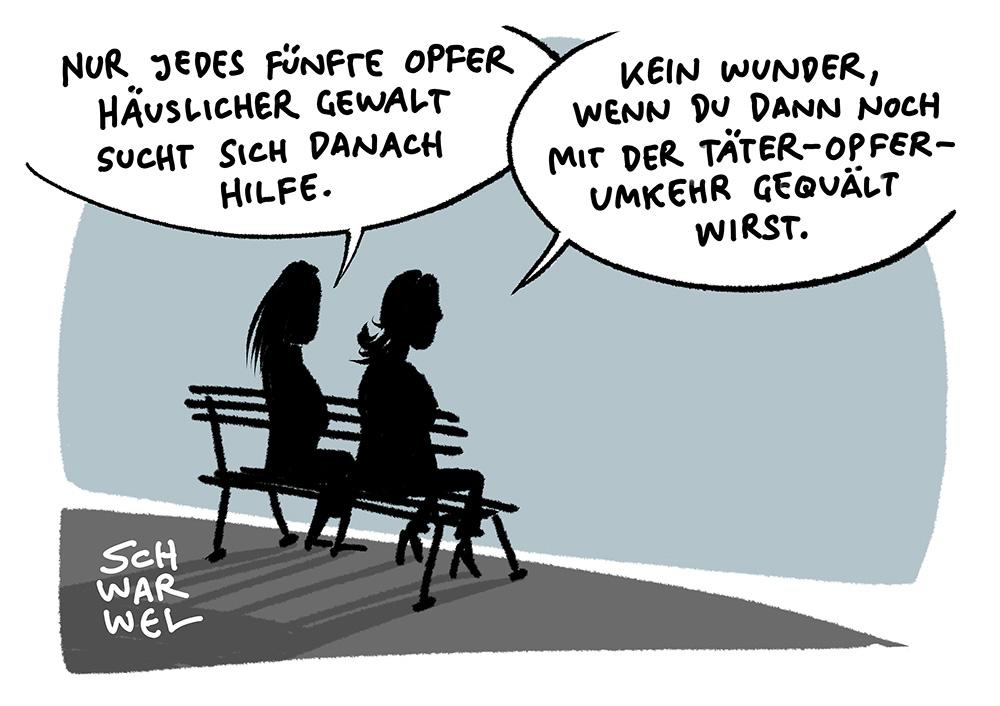Karikatur Gewalt