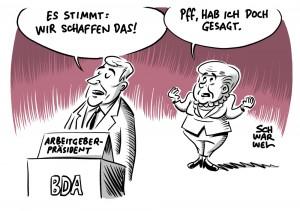 """Arbeitgeber bestätigen """"Wir schaffen das"""": BDA-Chef Kramer lobt Integration von Flüchtlingen"""