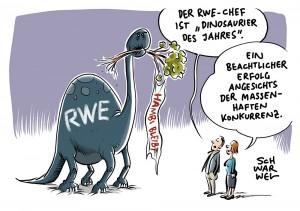 """Negativpreis des Naturschutzbundes NABU: RWE-Chef ist """"Dinosaurier des Jahres"""""""