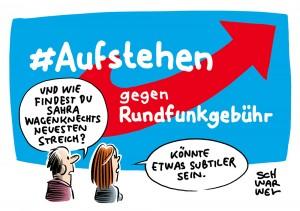 """Empörung über Tweet in AfD-Manier: Wagenknechts """"Aufstehen""""-Bewegung gegen Rundfunkbeitrag"""