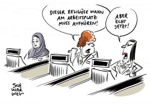 Religiöse Symbole in Unternehmen: EuGH muss über Kopftuchverbot entscheiden