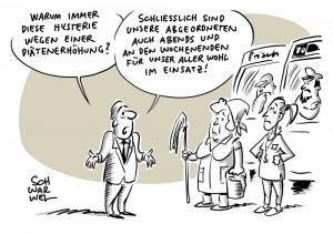 Diätenerhöhung im Bundestag: 300 Euro mehr im Monat auf über 10.000 Euro