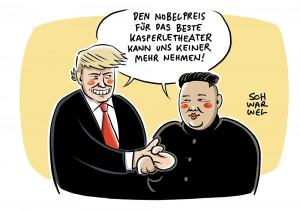 USA und Nordkorea: Trump und Kim wecken hohe Erwartungen an Gipfeltreffen