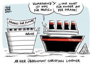 Klimastreiks mit #fridaysforfuture: Christian Lindner kritisiert Schüler und will Profis das Feld überlassen