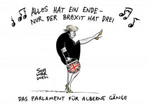Brexiternity: Theresa May und ein Austrittsprozess, der sich bis in alle Ewigkeit hinzieht