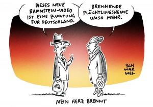 Popstars als KZ-Häftlinge: Deutschland debattiert über neues Rammstein-Video