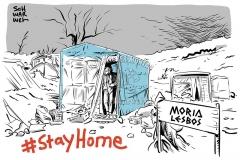 #StayHome in der Corona-Pandemie: Geflüchtetenunterkünfte in Lagern sind kein Zuhause