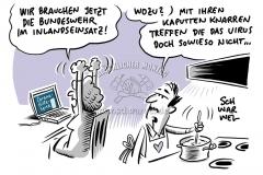 """Corona-Pandemie: Bundeswehr nur """"letzte Reserve"""" für Transport von Schutzmasken"""